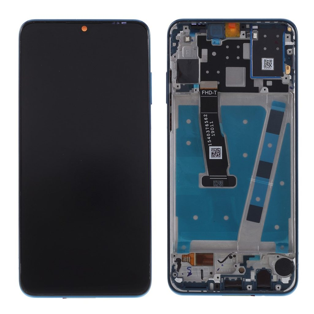 Huawei P30 lite LCD displej dotykové sklo komplet přední panel včetně rámečku modrý