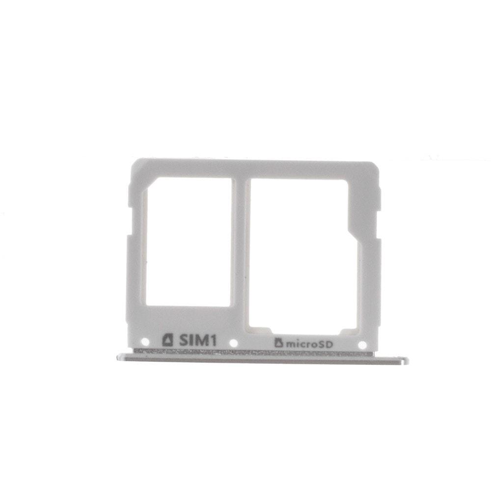 Samsung Galaxy A3 2016 / A5 2016 / šuplík na SIM a SD kartu stříbrný A310 / A510
