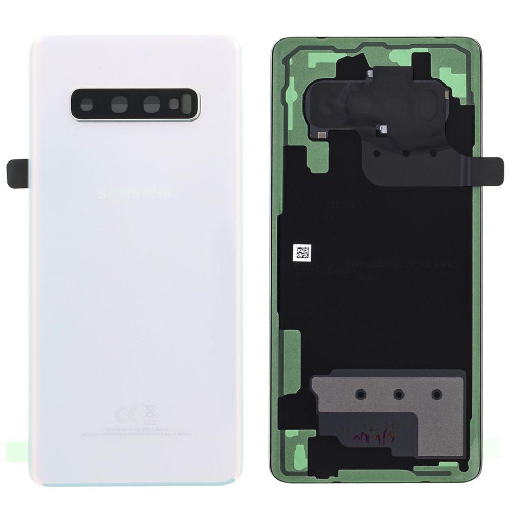 Samsung Galaxy S10 Plus zadní kryt baterie Bílý G975 (Service Pack)