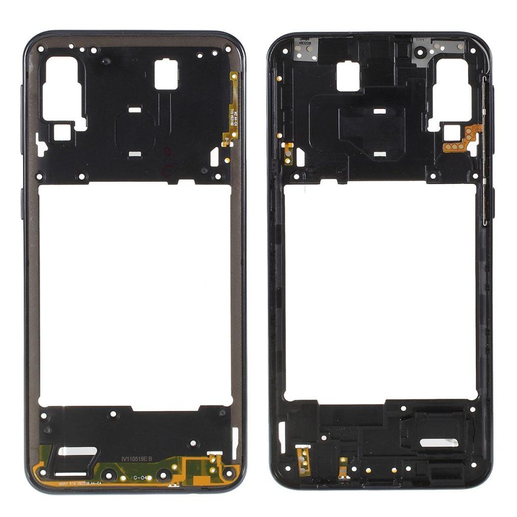 Samsung Galaxy A40 středový rámeček střední kryt černý A405