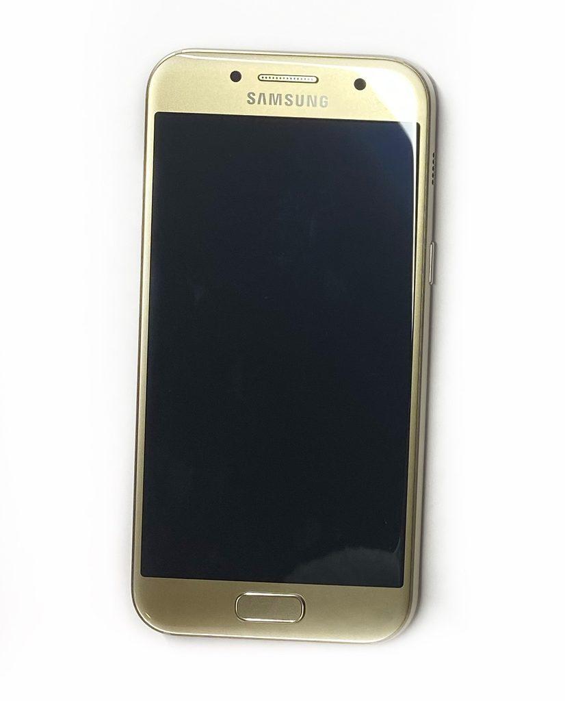 Samsung Galaxy A3 2017 SWAP LCD displej dotykové sklo zlaté včetně rámečku zánovní A320F
