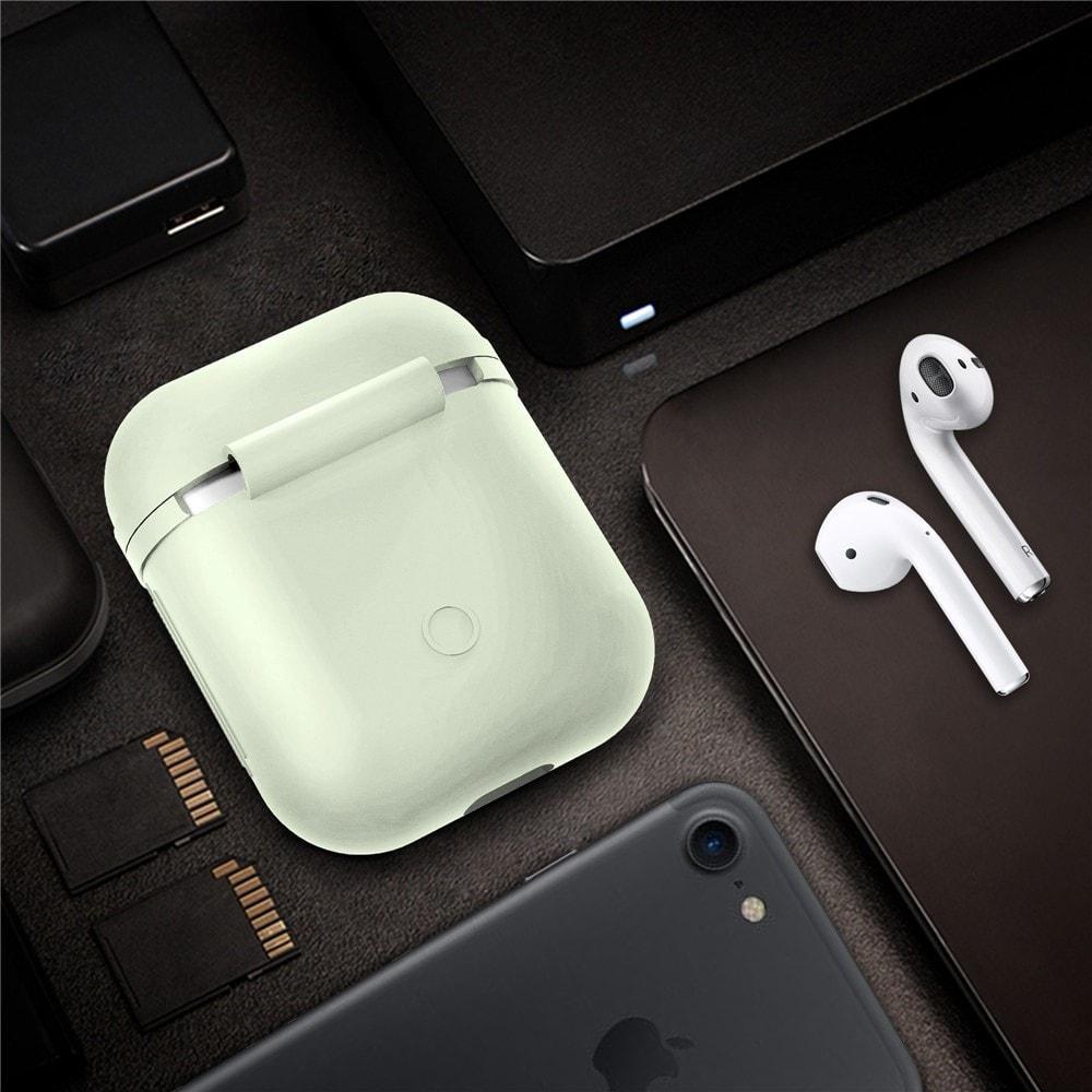 Apple Airpods ochranný kryt silikonový obal na bezdrátová sluchátka fosforeskující