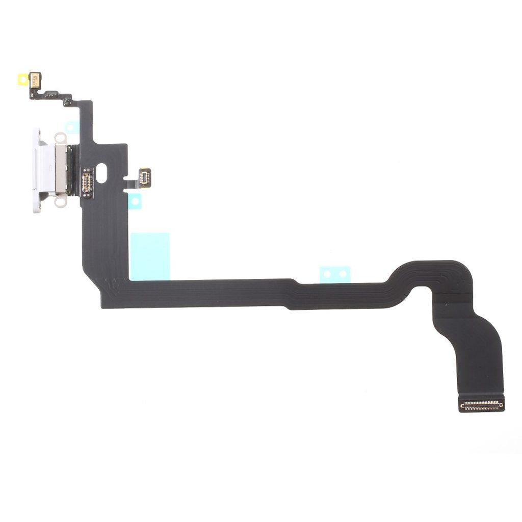 Apple iPhone X nabíjecí konektor flex mikrofon lightning dock port bílý OEM