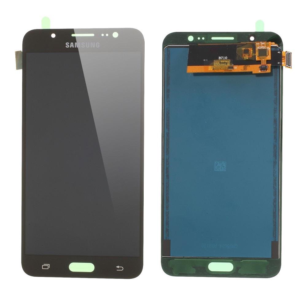 Samsung Galaxy J7 2016 LCD displej dotykové sklo komplet přední TFT panel J710 černý