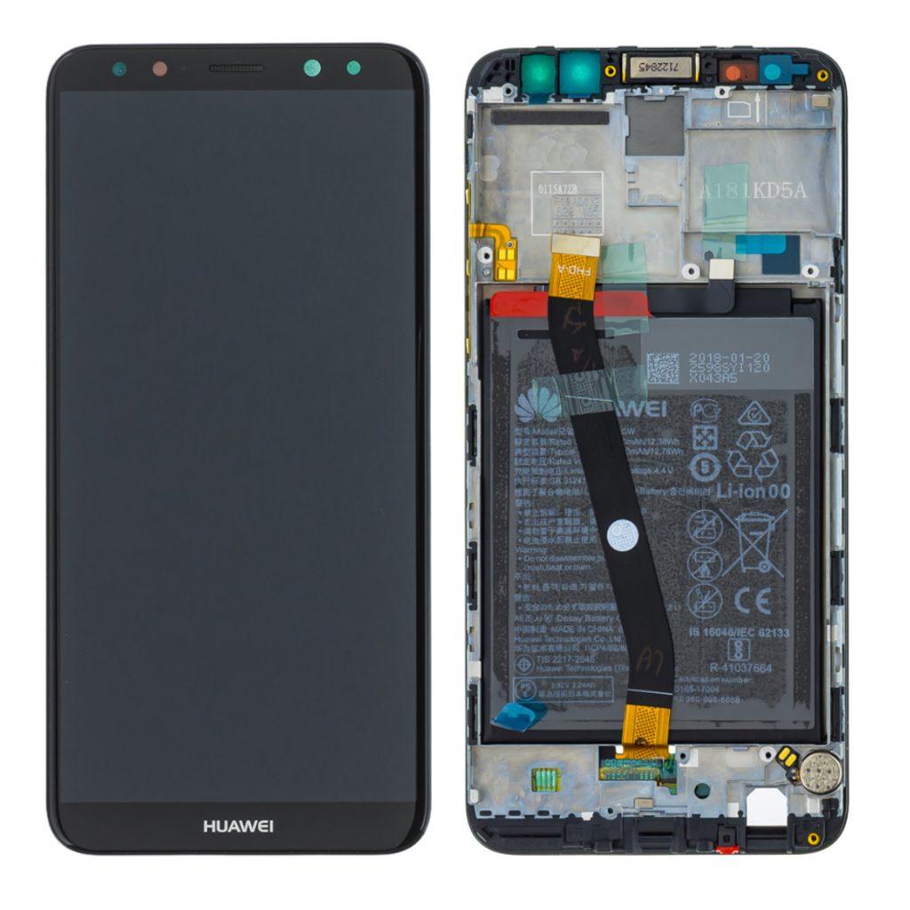 Huawei Mate 10 lite LCD displej dotykové sklo černé komplet přední panel včetně rámečku a baterie (Service Pack)