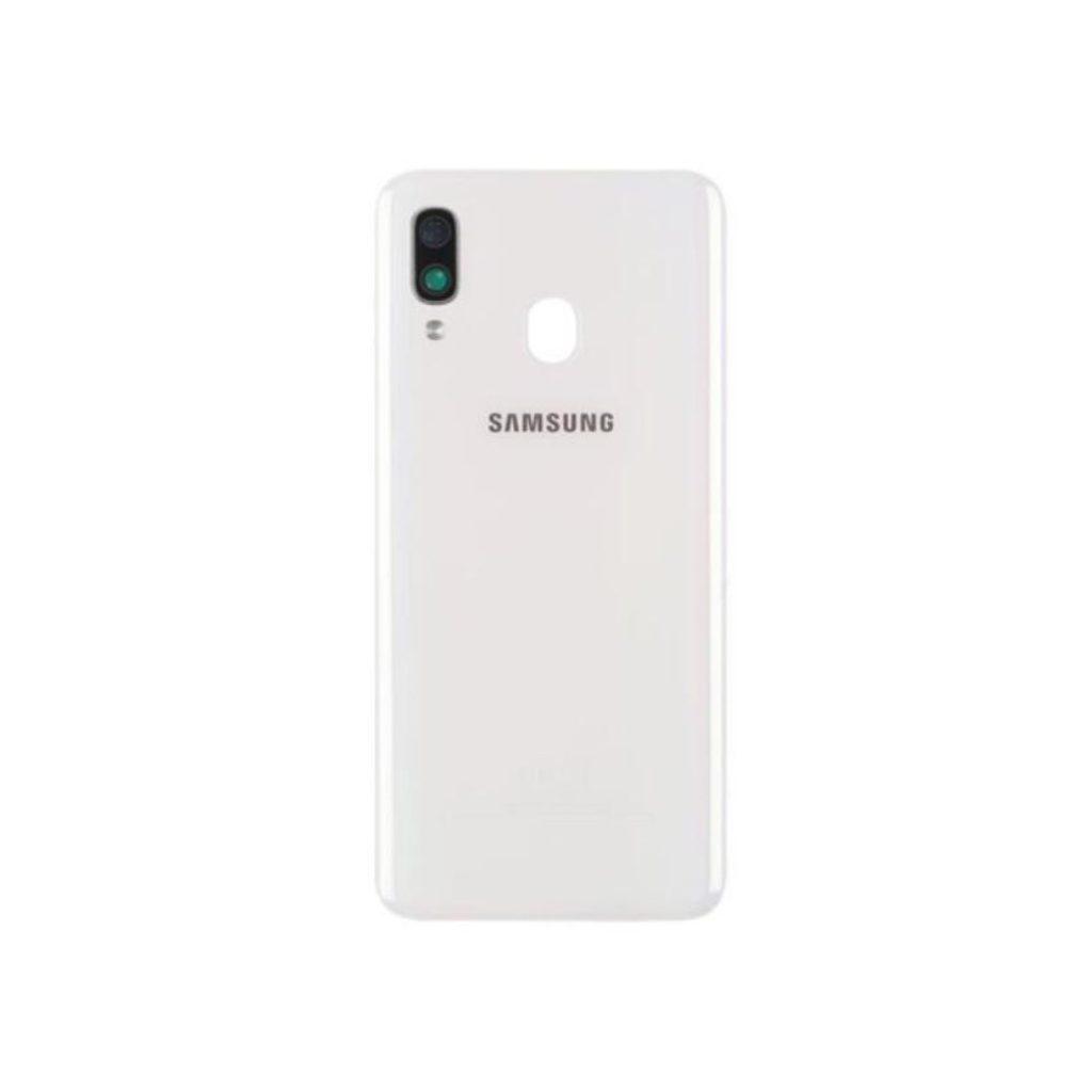 Samsung Galaxy A40 zadní kryt baterie včetně krytky čočky fotoaparátu bílý A405 použitý