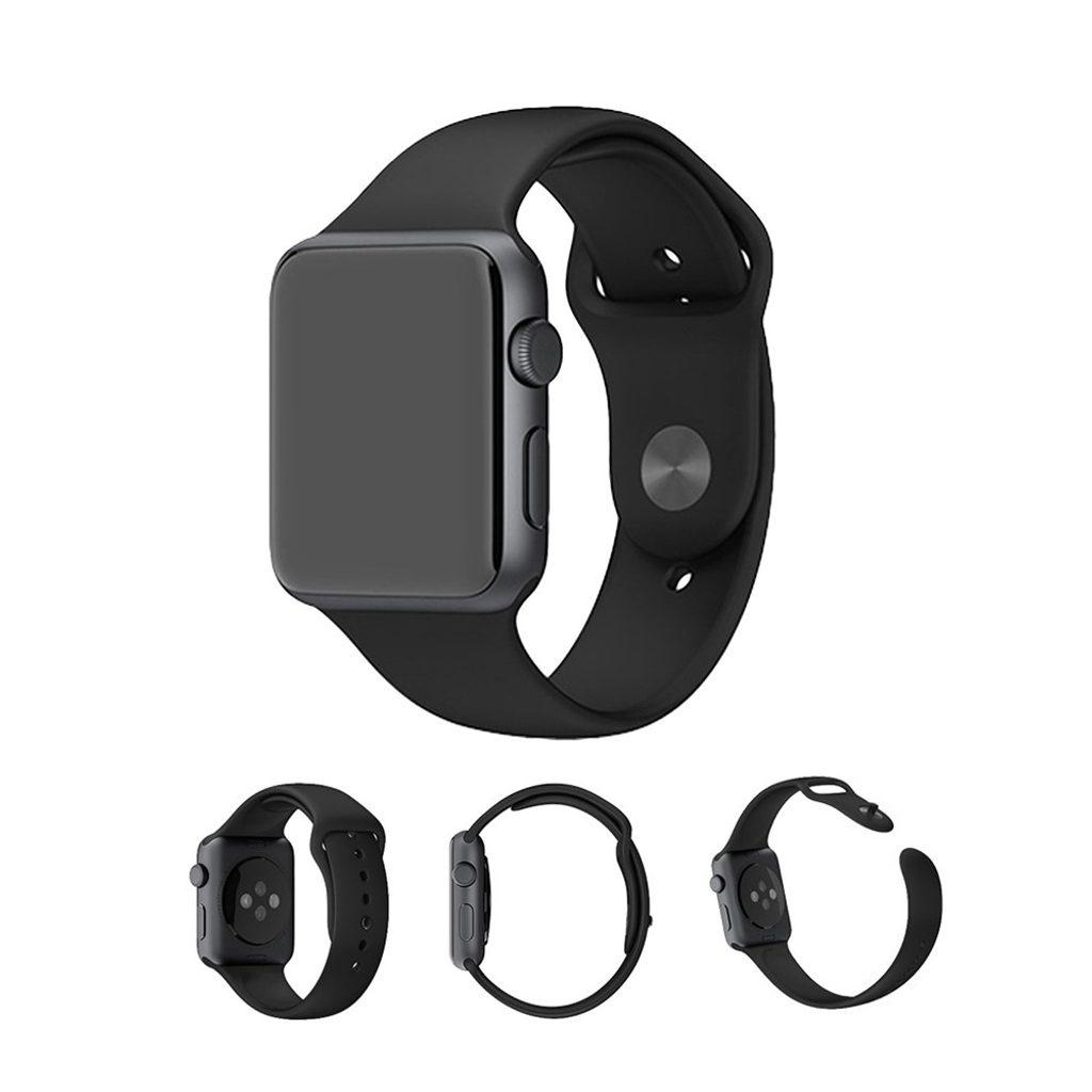 Apple Watch 38mm 40MM silikonový řemínek pásek černý