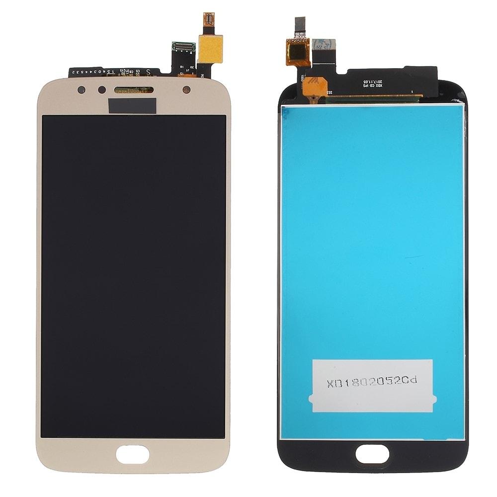 Motorola Moto G5S Plus LCD displej komplet přední panel dotykové sklo zlaté