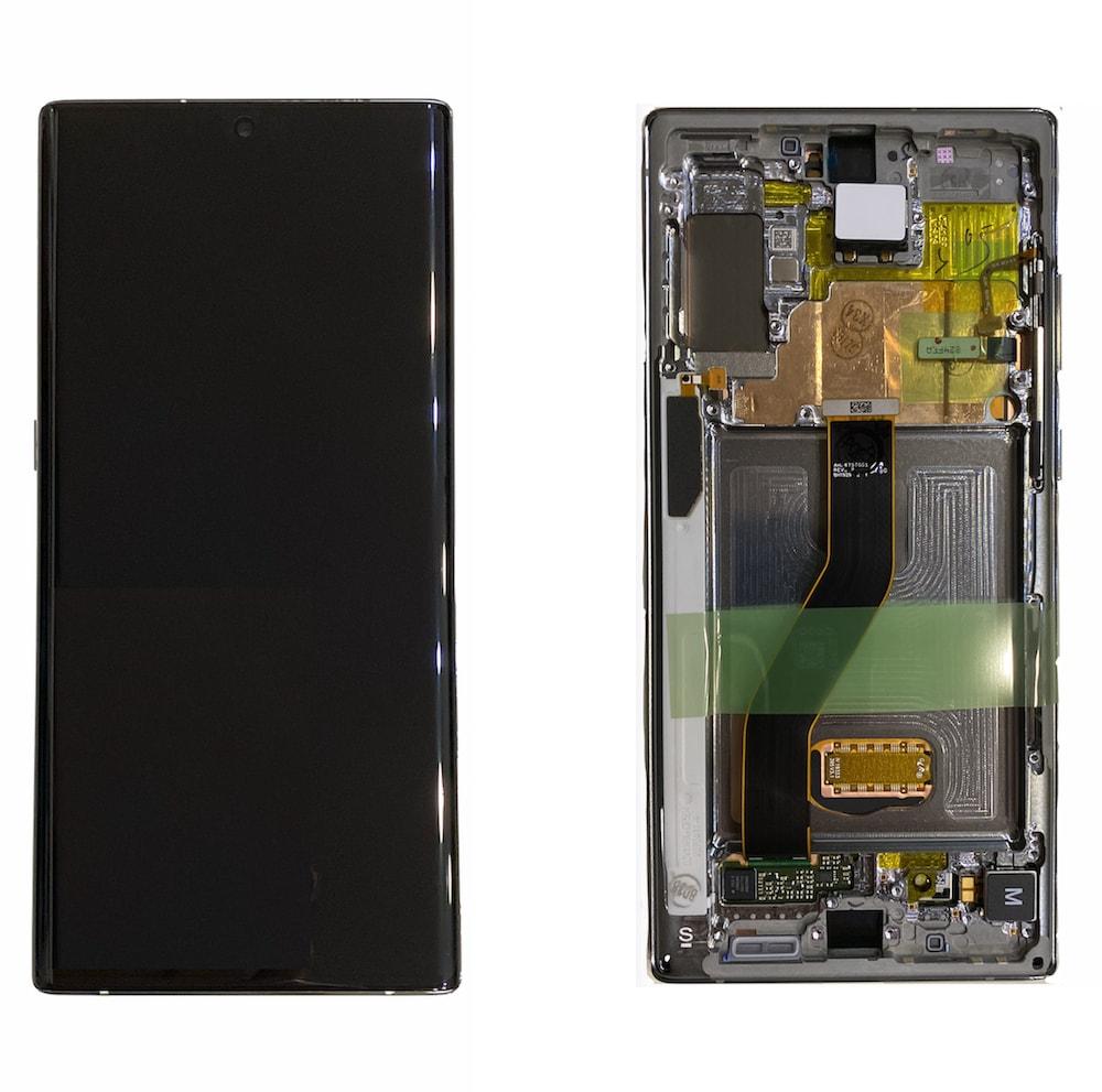 Samsung Galaxy Note 10+ Plus N975 LCD displej Amoled včetně rámu stříbrný G973 (Service Pack)
