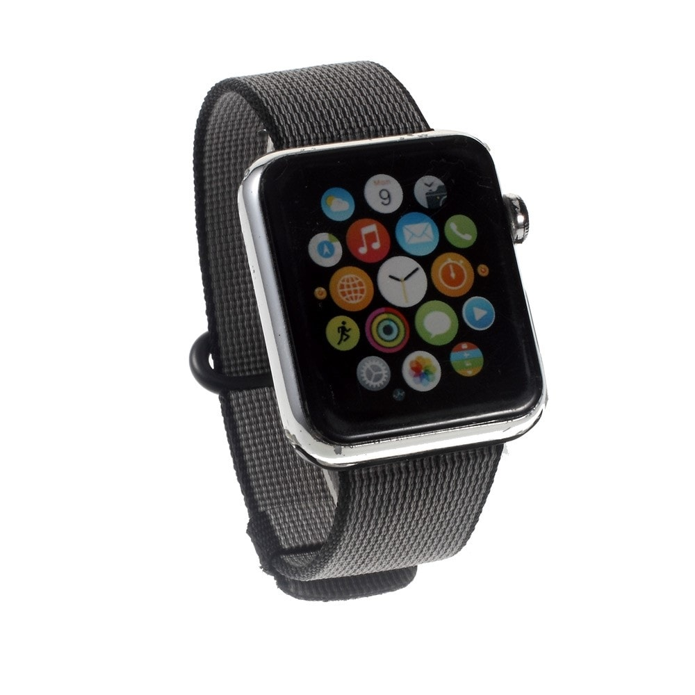 Apple Watch 42mm 44MM řemínek nylonový pásek černý