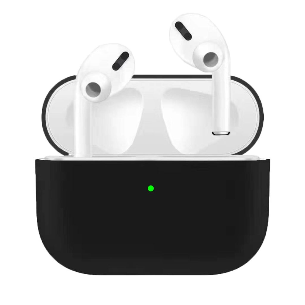 Apple Airpods Pro ochranný kryt silikonový obal na bezdrátová sluchátka černý