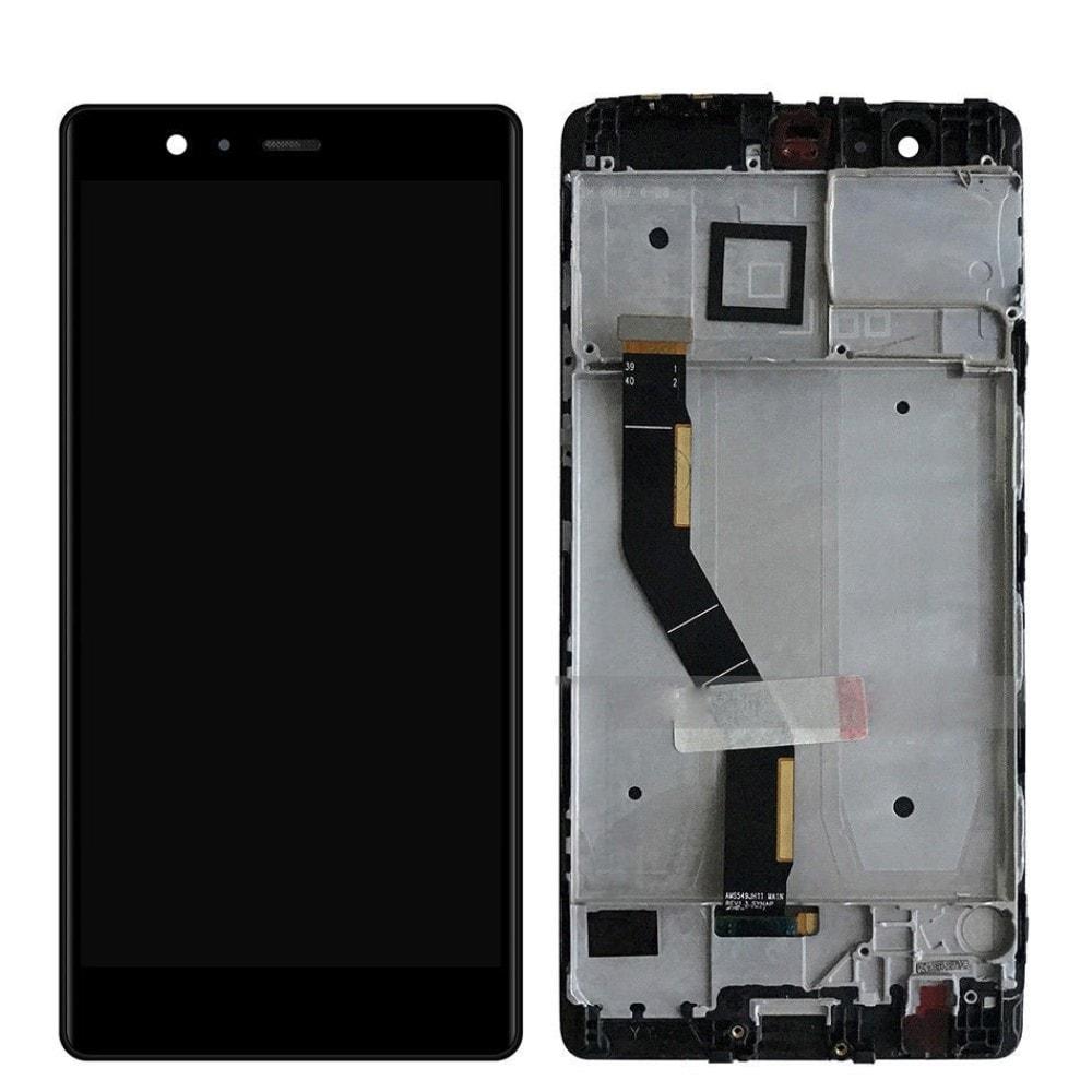 Huawei P9 Plus LCD displej dotykové sklo komplet přední panel černý včetně rámečku