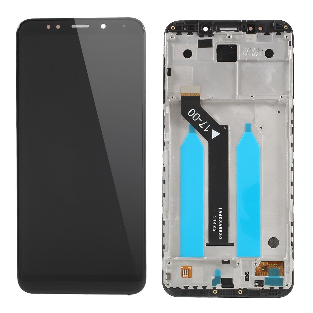 Xiaomi Redmi 5 Plus LCD displej dotykové sklo komplet přední panel černý včetně rámečku