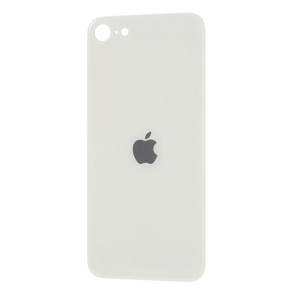 Apple iPhone SE 2. generace zadní skleněný kryt baterie bílý se zvětšeným otvorem na zadní fotoaparát
