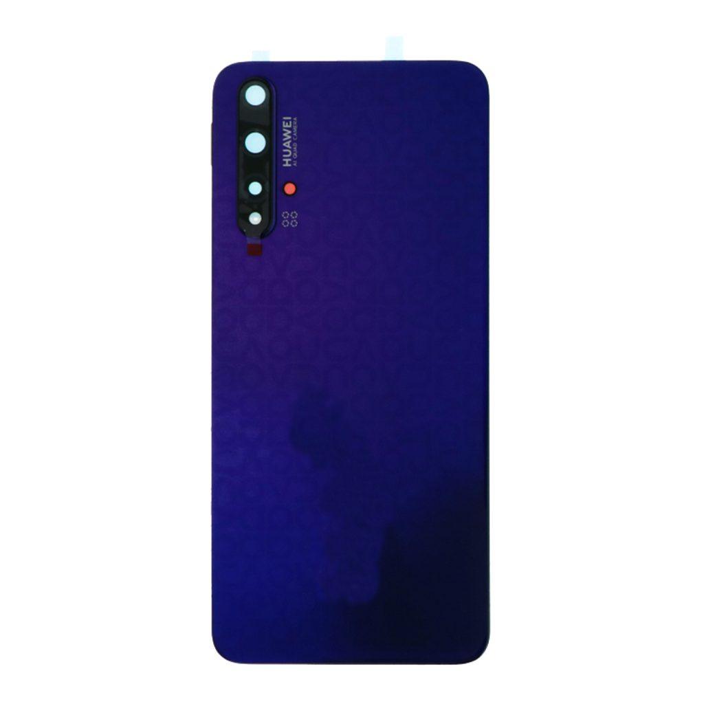 Huawei Nova 5T zadní kryt baterie fialový včetně krytky fotoaparátu
