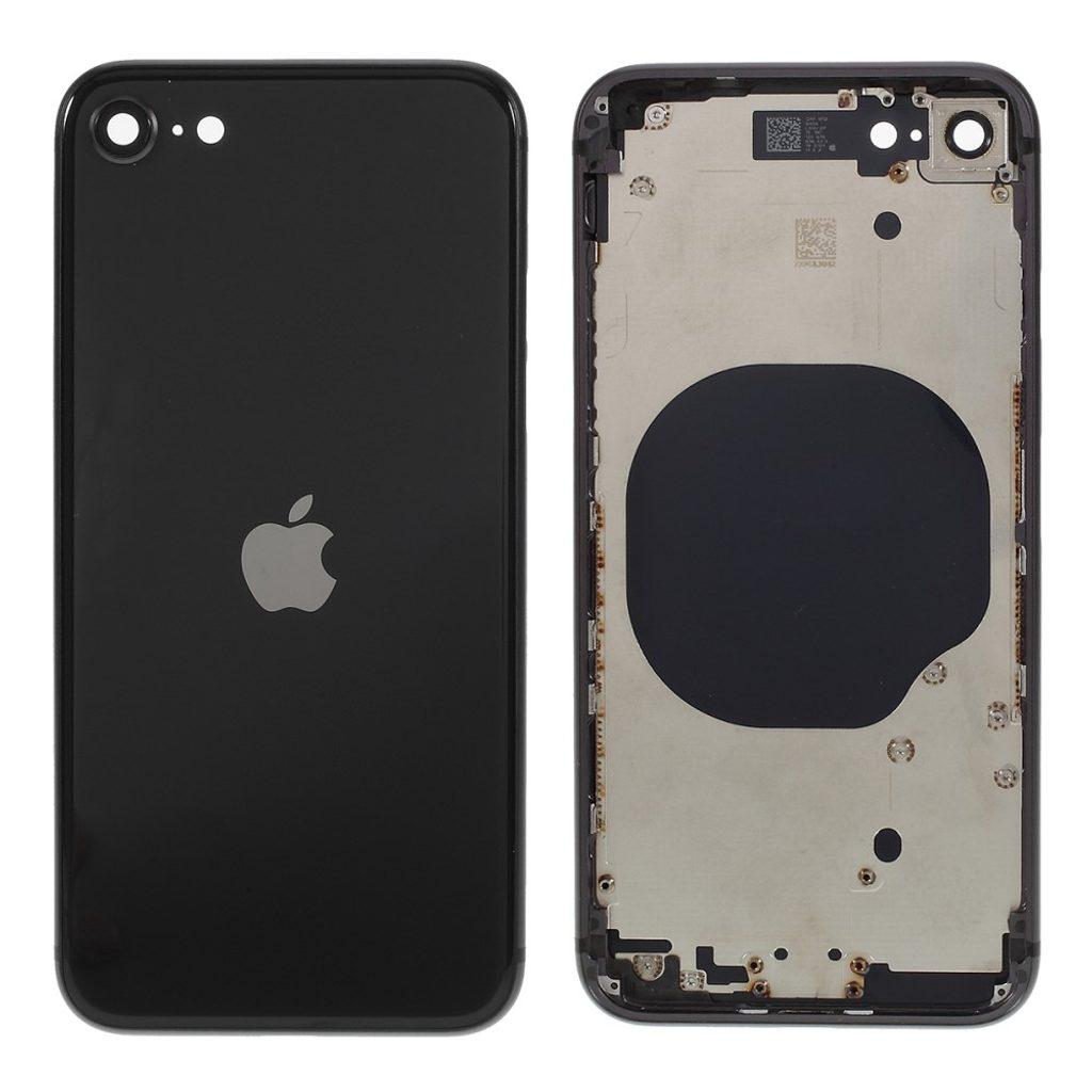 Apple iPhone SE 2020 zadní kryt baterie včetně středového rámečku černý