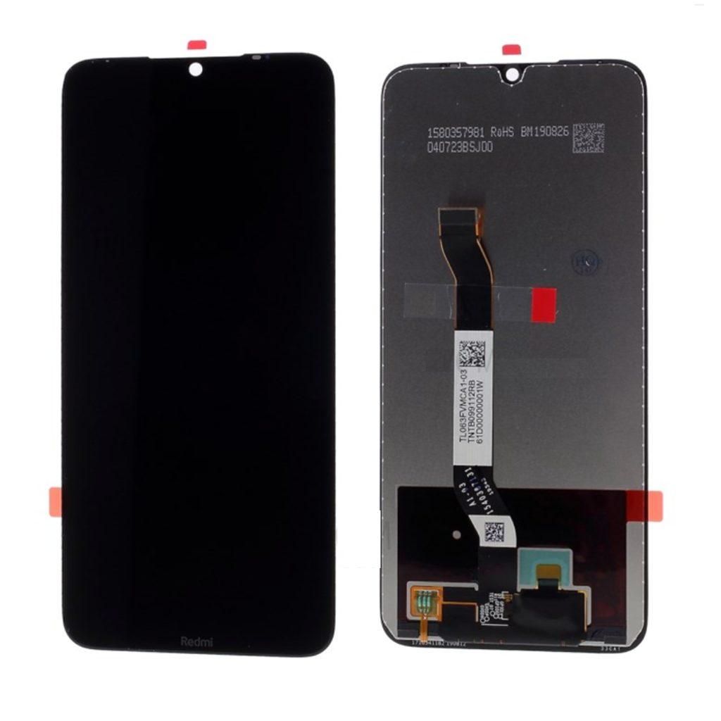 Xiaomi Redmi Note 8  LCD displej dotykové sklo komplet přední panel černý (OEM)