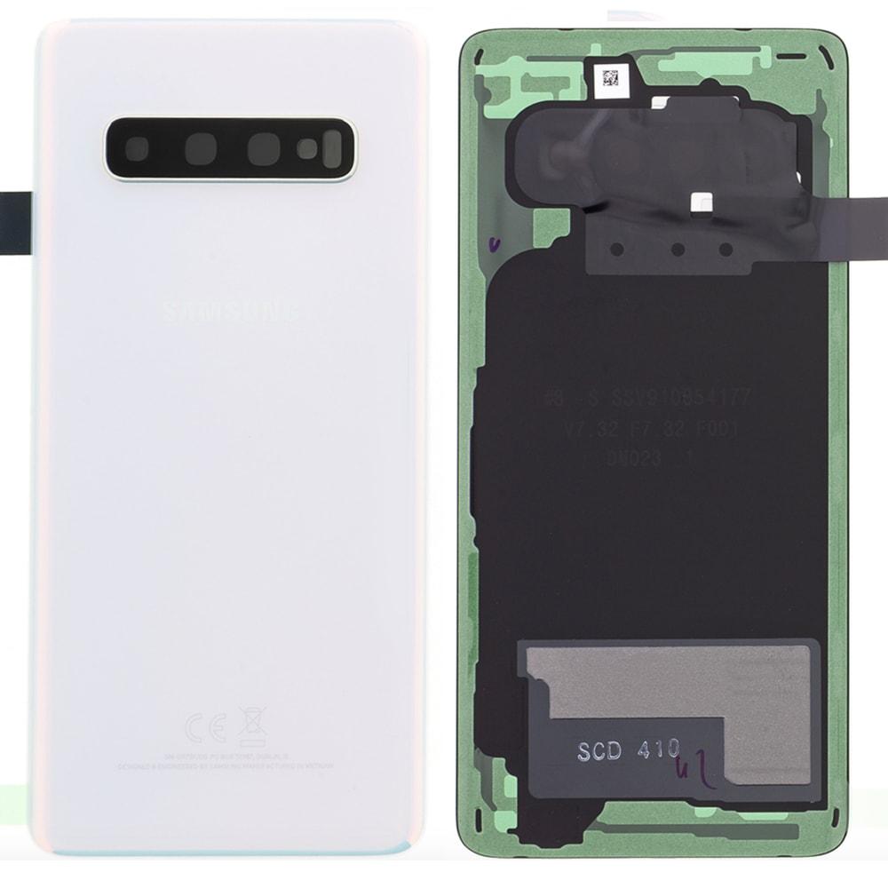 Samsung Galaxy S10 zadní kryt baterie bílý G973 (Service Pack)