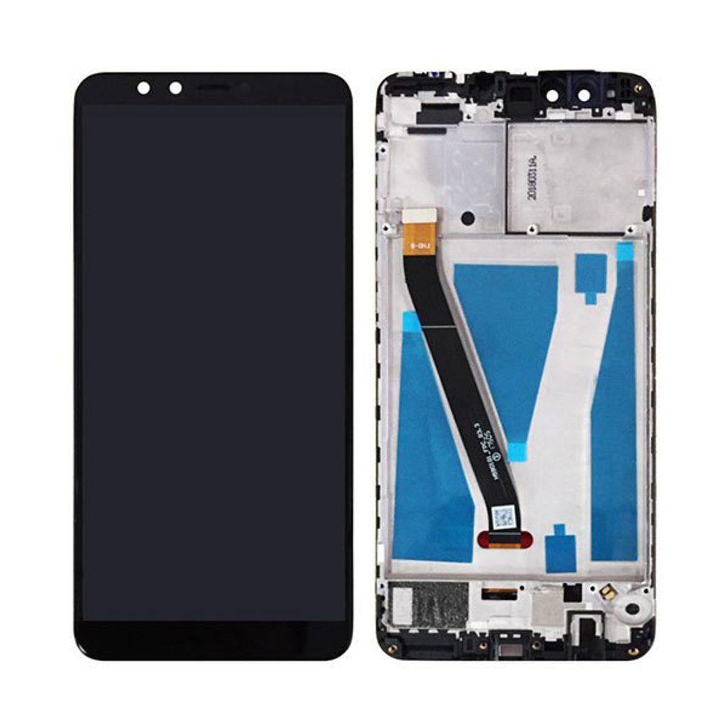 Huawei Y9 2018 LCD displej dotykové sklo černé komplet přední panel včetně rámečku