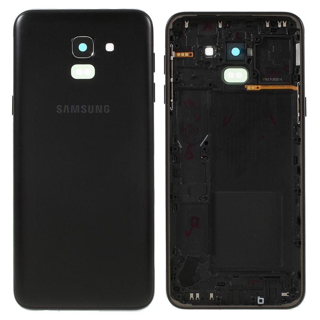 Samsung J6 2018 Zadní kryt baterie včetně krytky fotoaparátu J600 černý