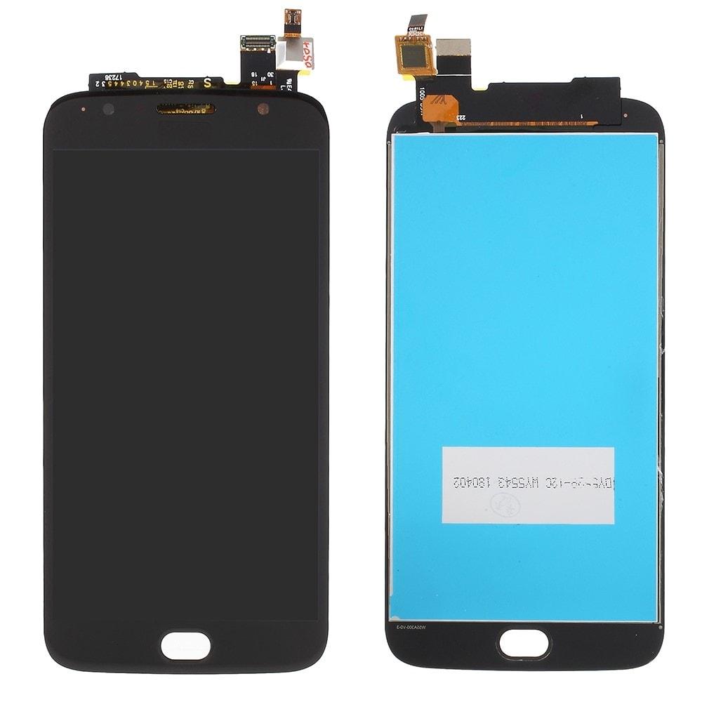 Motorola Moto G5S Plus LCD displej dotykové sklo komplet přední panel černý