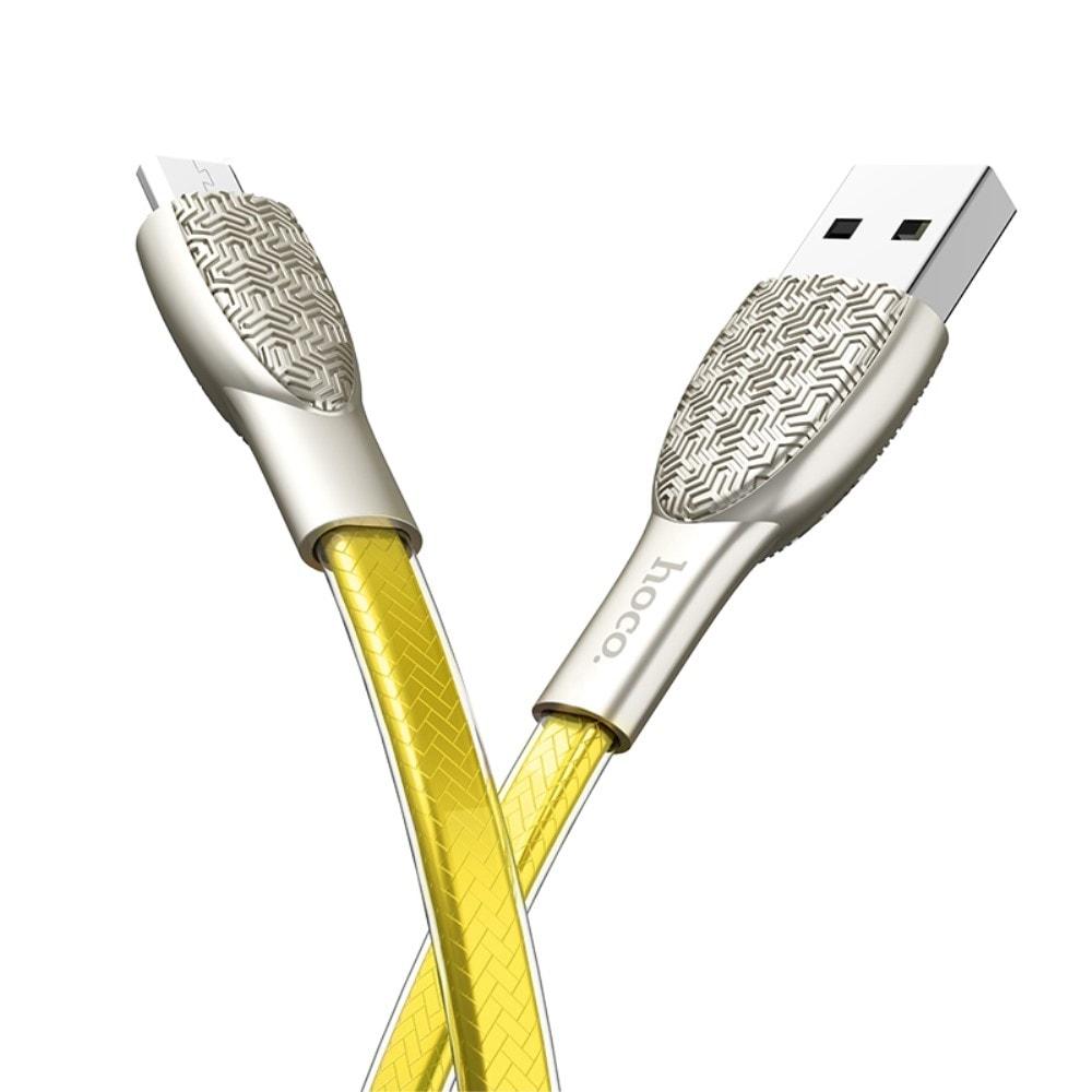 Nabíjecí a datový kabel micro usb 1,2m HOCO U52 zlatý