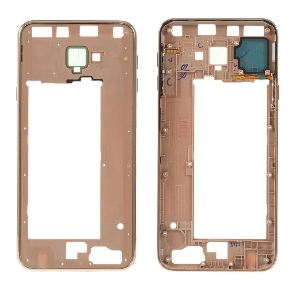 Samsung Galaxy J4 plus středový rámeček střední kryt telefonu zlatý J425/J610