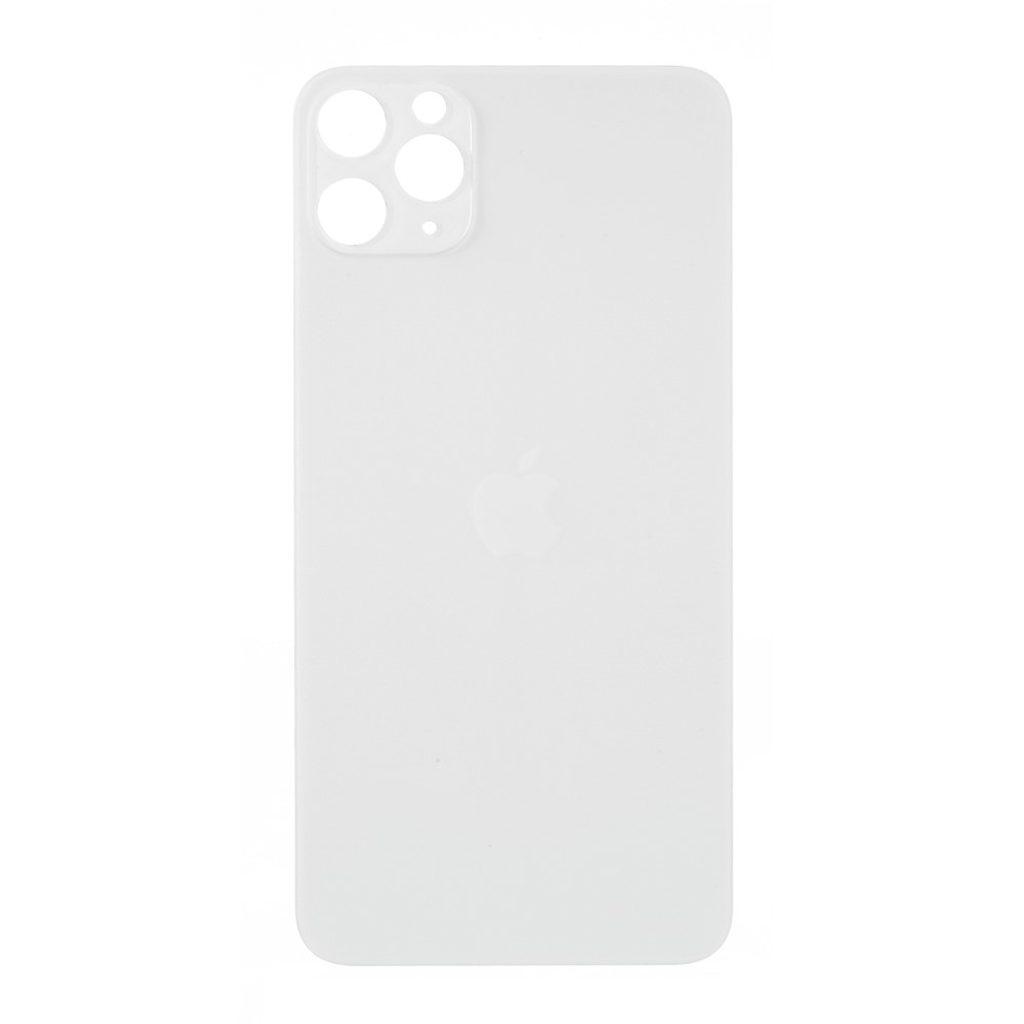 Apple iPhone 11 Pro zadní skleněný kryt baterie bílý s větším otvorem pro čočky kamery