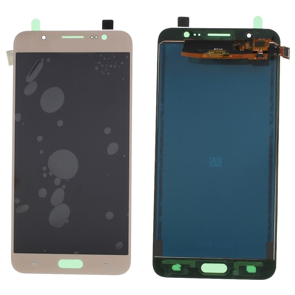 Samsung Galaxy J7 2016 LCD displej dotykové sklo komplet přední TFT panel J710 zlatý