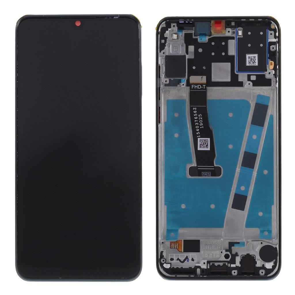 Huawei P30 lite LCD displej dotykové sklo komplet přední panel včetně rámečku černý