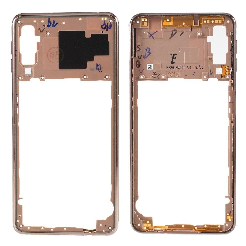 Samsung Galaxy A7 2018 středový rámeček střední kryt A750 zlatý
