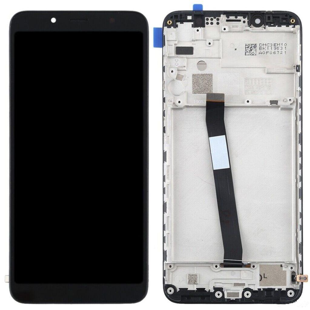 Xiaomi Redmi 7A LCD displej dotykové sklo přední panel černý komplet včetně rámečku