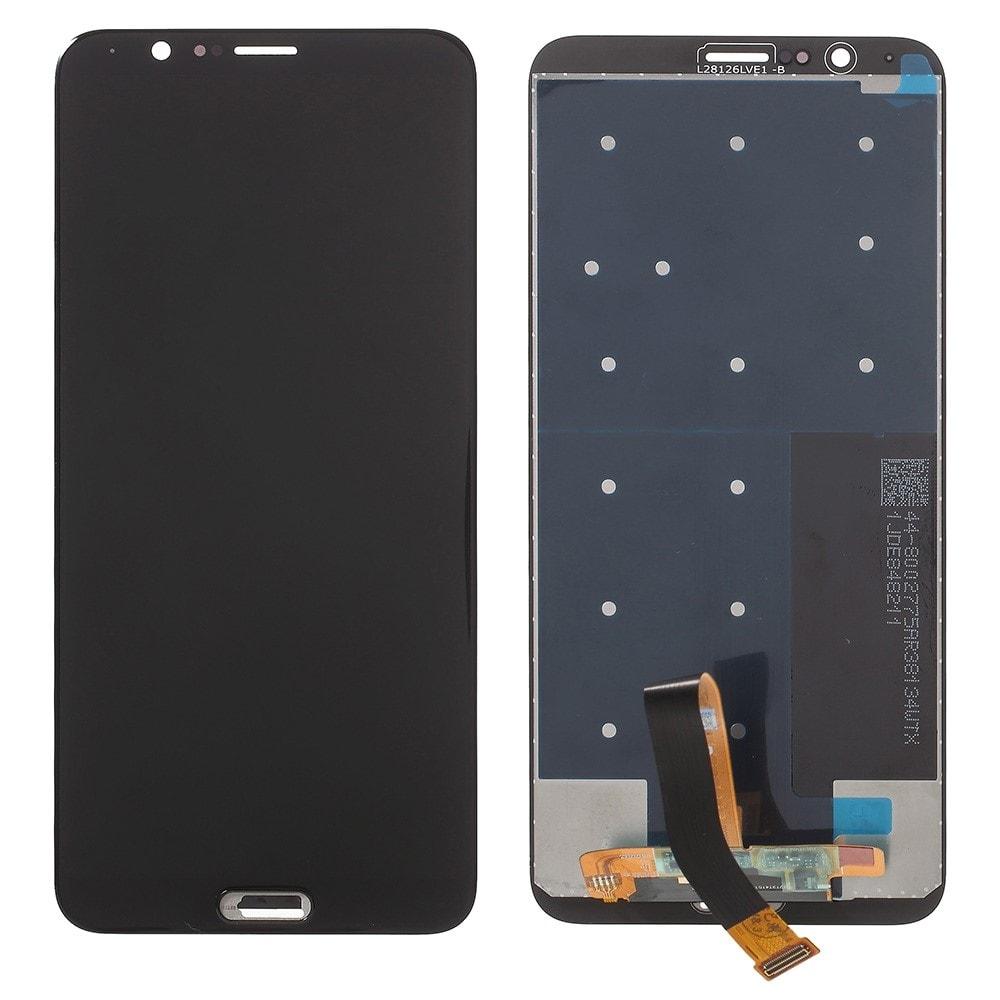Honor V10 / View 10 LCD displej dotykové sklo komplet přední panel černý