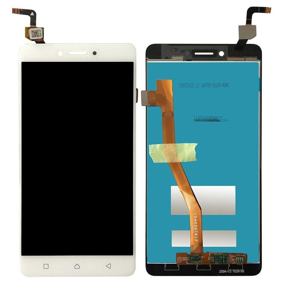 Lenovo K6 Note LCD displej dotykové sklo bílé