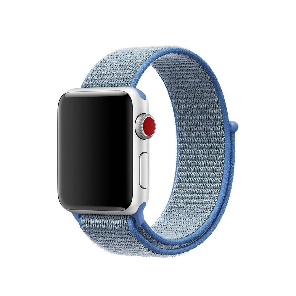 Apple Watch 42mm 44MM tkaný nylonový provlékací sportovní řemínek modrý