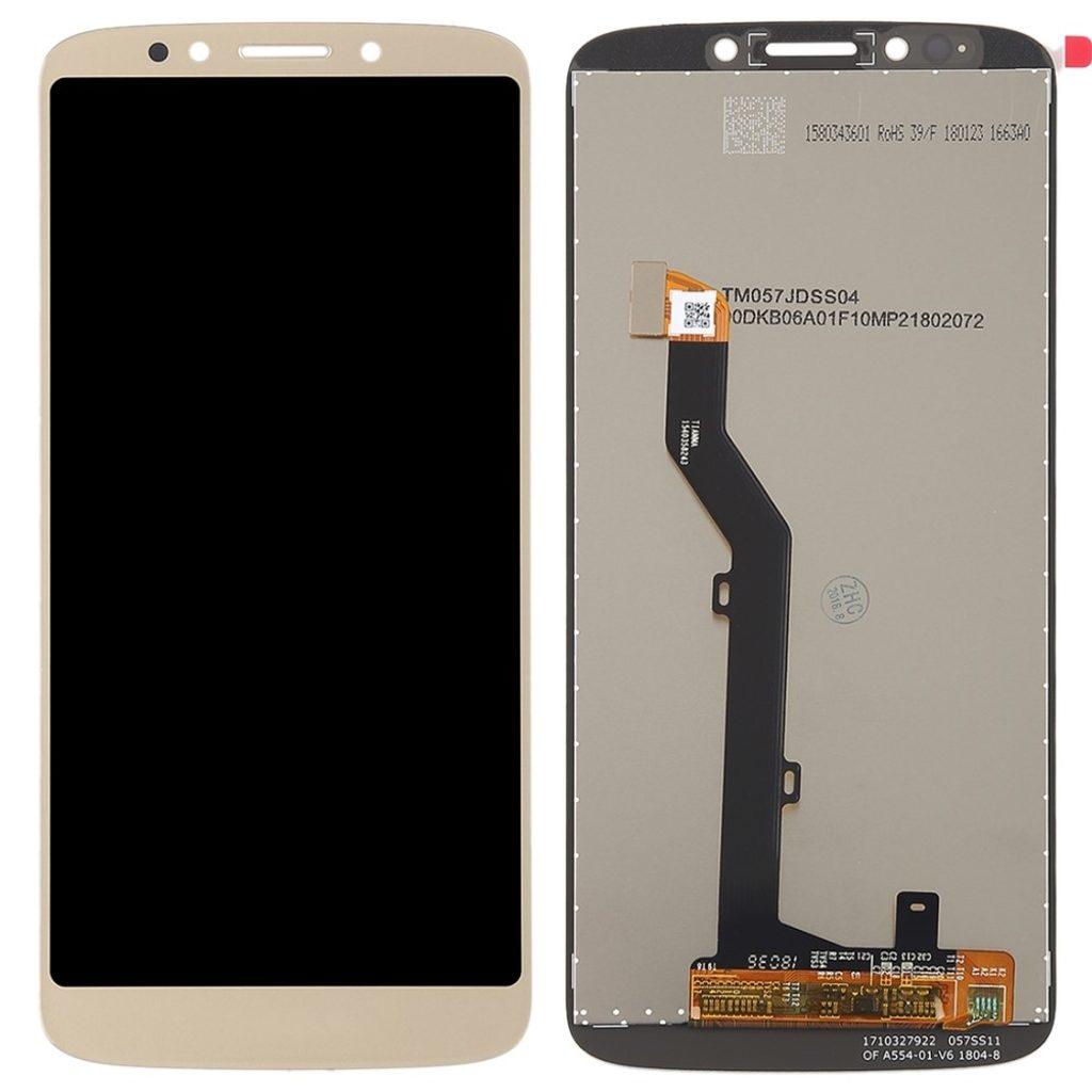 Motorola Moto E5 LCD displej dotykové sklo zlaté komplet přední panel