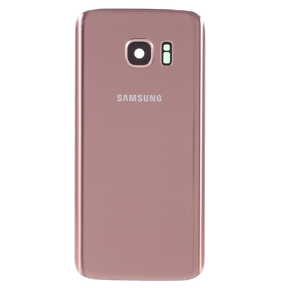 Samsung Galaxy S7 zadní kryt baterie růžový včetně krytky fotoaparátu Rose Gold G930F