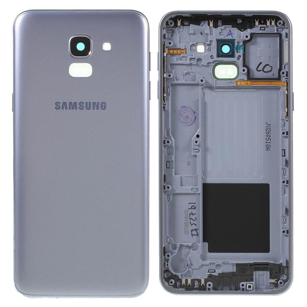 Samsung J6 2018 Zadní kryt baterie včetně krytky fotoaparátu J600 šedý