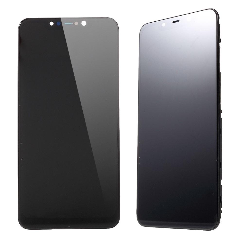 Xiaomi Pocophone F1 LCD displej dotykové sklo komplet přední panel včetně rámečku černý
