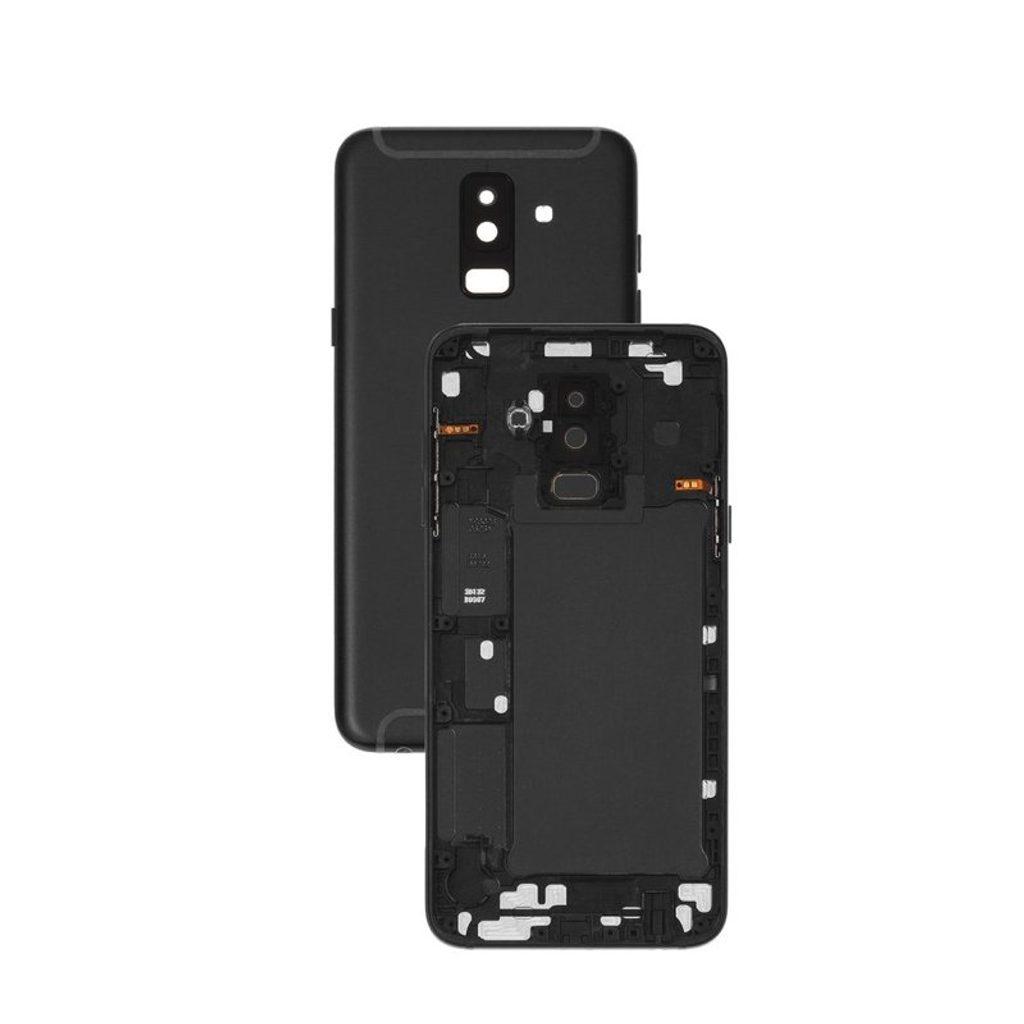 Samsung Galaxy A6 + Plus 2018 Zadní kryt černý A605 (Service Pack)