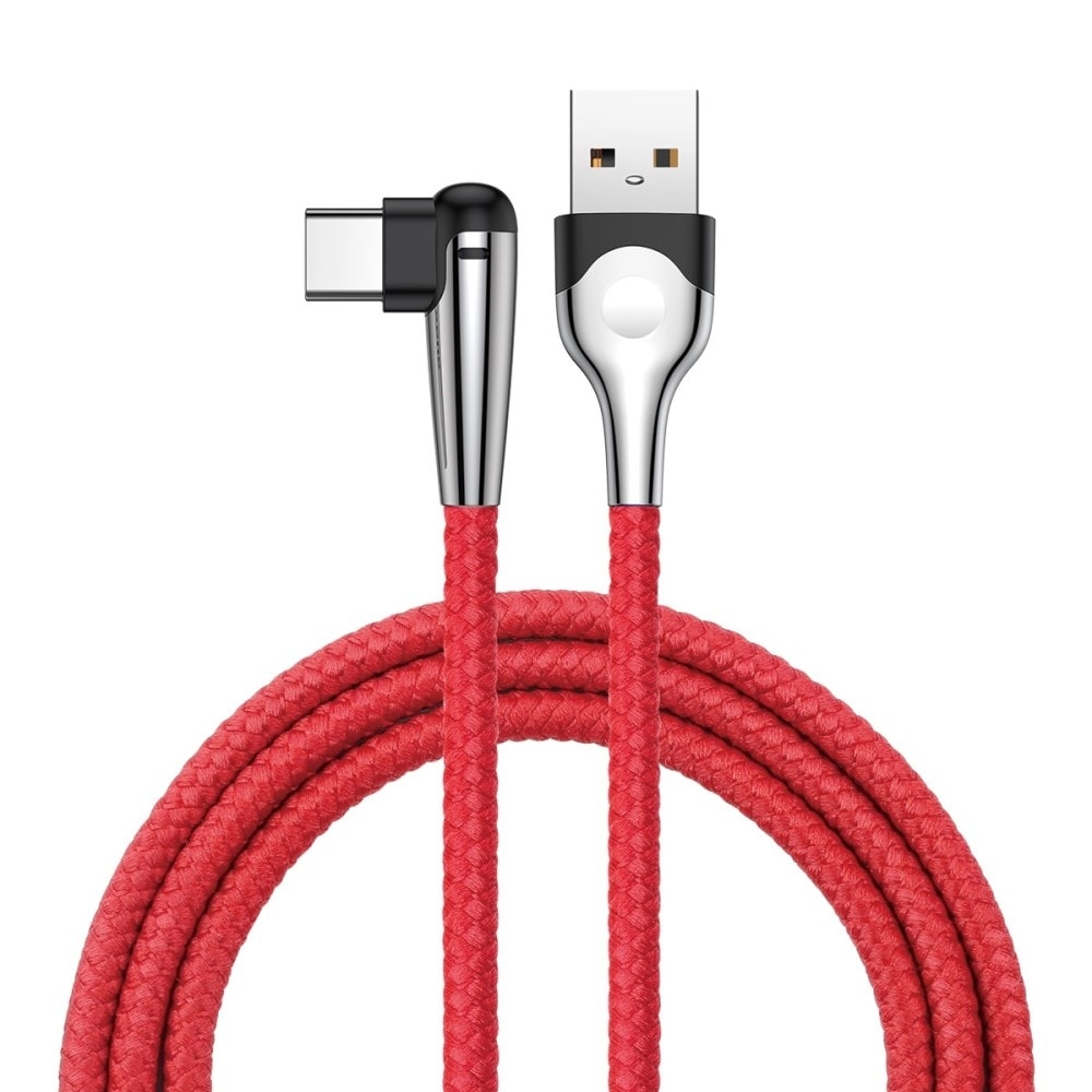 BASEUS 1M 3A Fast Charging USB C data a nabíjení - červený