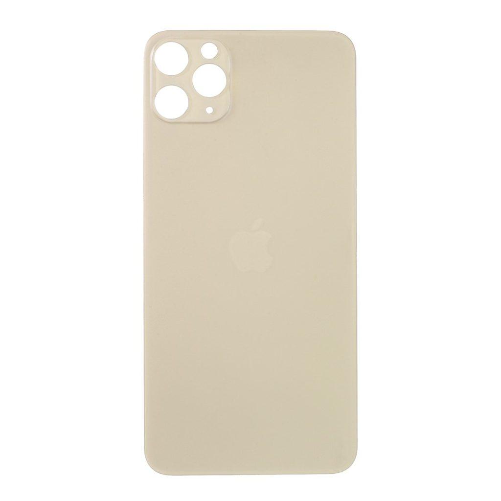 Apple iPhone 11 Pro Max zadní skleněný kryt baterie zlatý s větším otvorem pro kamery