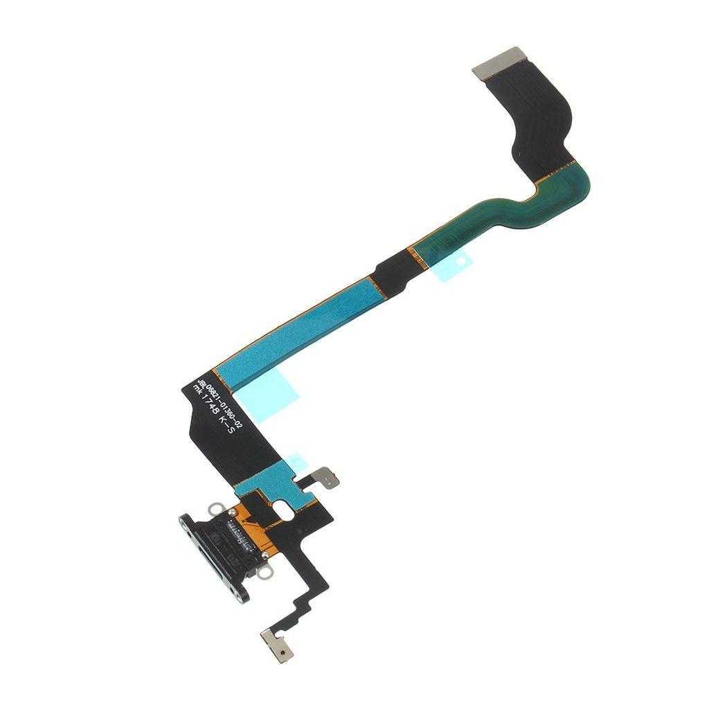 Apple iPhone X nabíjecí konektor flex mikrofon lightning dock port černý