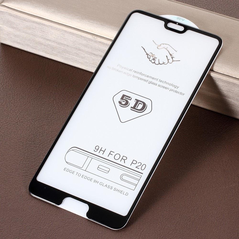 Huawei P20 Ochranné tvrzené 5D sklo černé