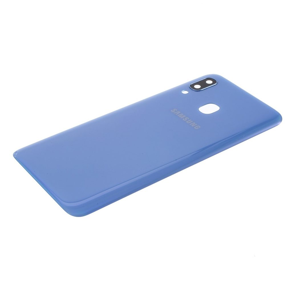Samsung Galaxy A40 zadní kryt baterie včetně krytky čočky fotoaparátu modrý A405 použitý