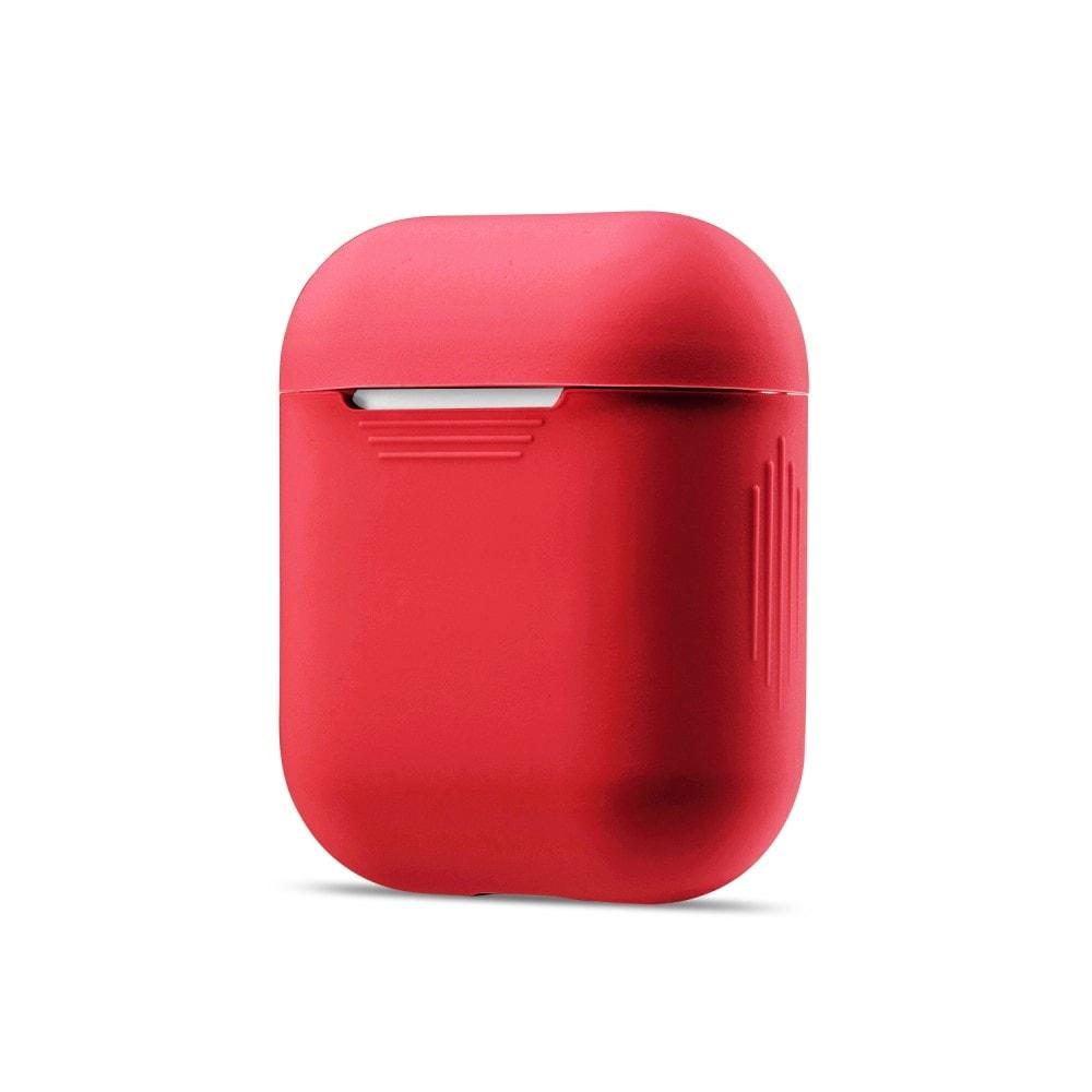 Apple Airpods ochranný kryt silikonový obal na bezdrátová sluchátka červený