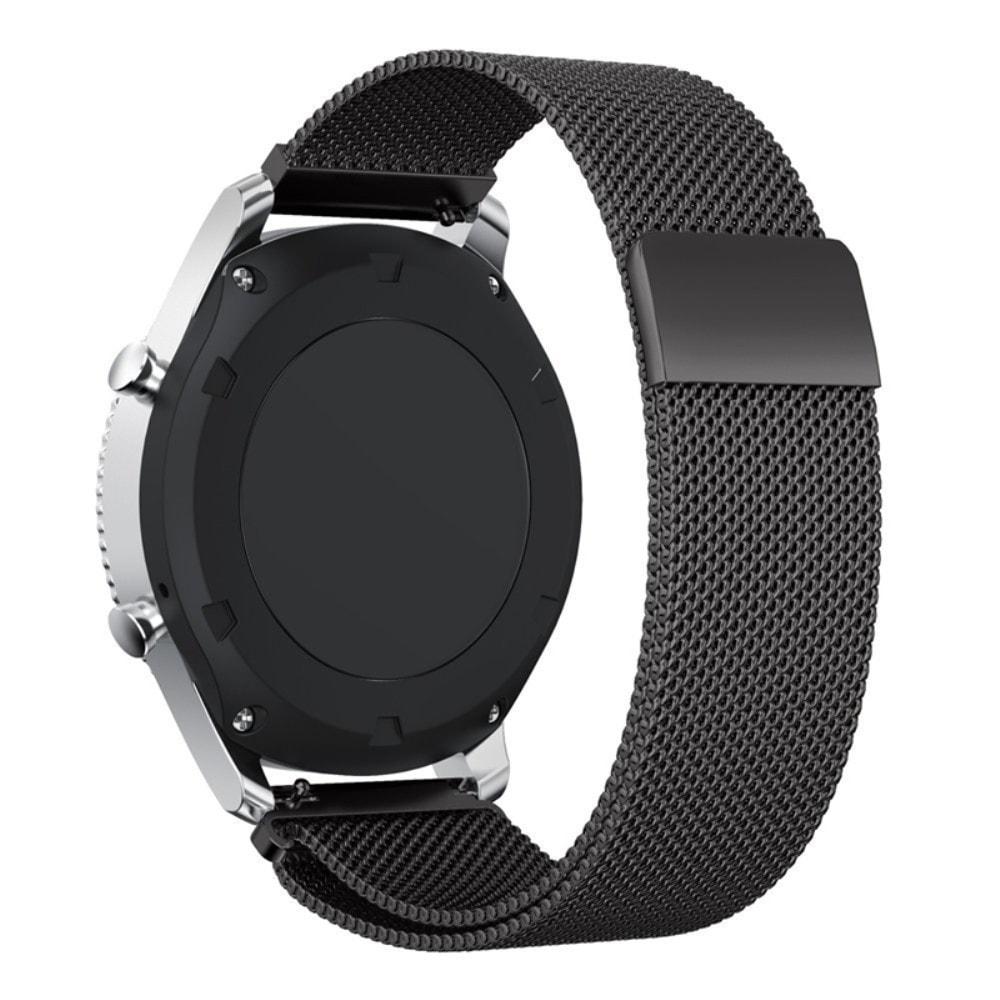 Samsung Gear S3 Frontier řemínek pásek milánský tah černý kovový