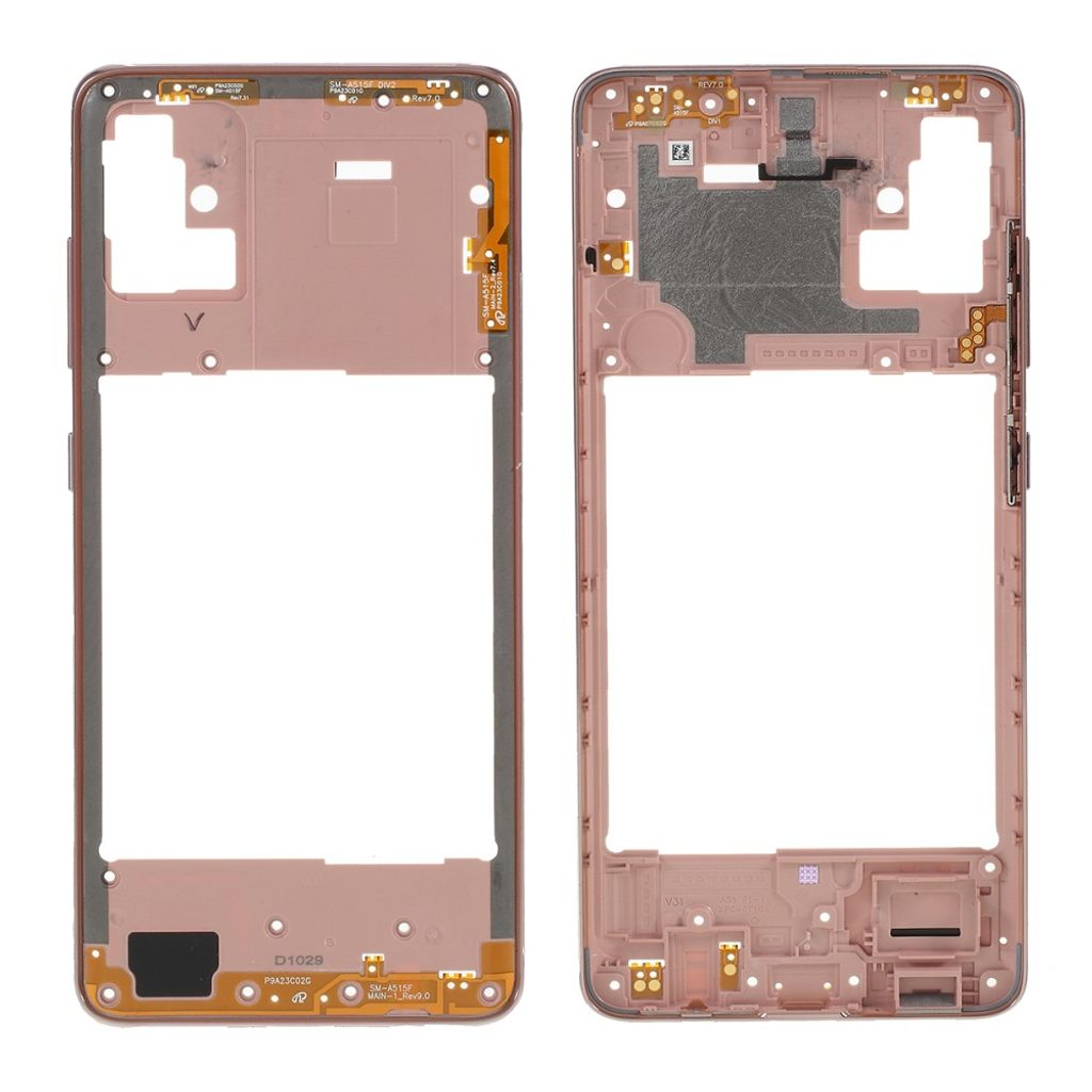 Samsung Galaxy A51 střední rámeček středový kryt zlatý A515