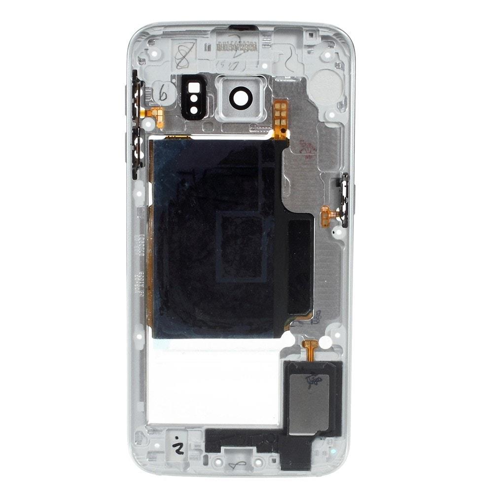 Samsung Galaxy S6 Edge střední kryt rámeček stříbrný G925F