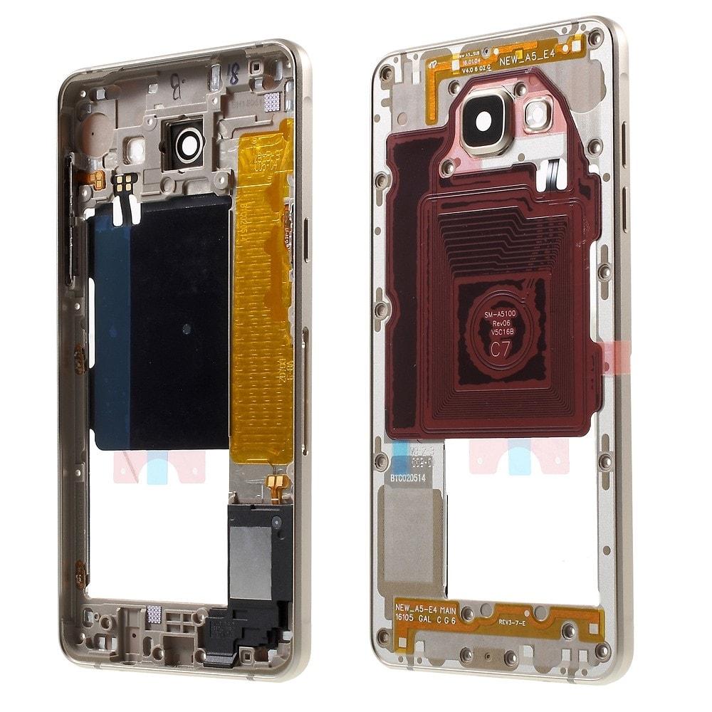 Samsung Galaxy A5 2016 Středový rámeček kryt zlatý A510F